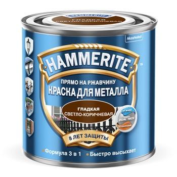 Краска HAMMER глад Св/коричн 2,5л