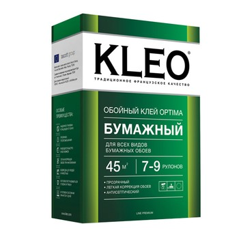 Клей обойный KLEO OPTIMA для бумажных обоев, 160гр