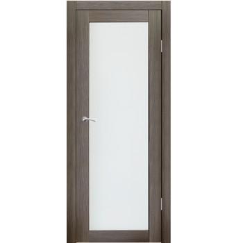 Полотно дверное остекленное Легро СИНЕРЖИ акация темная ПВХ, ПДО 900х2000мм