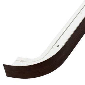 Карниз потолочный с планкой (венге) для штор двухрядный 2,0м, Магеллан