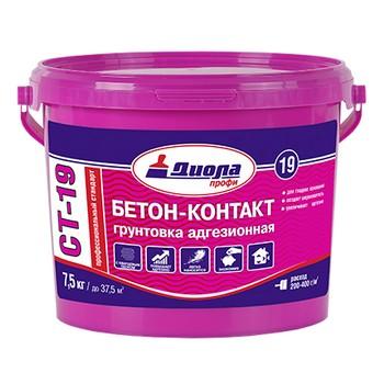 Грунт Диола ПРОФ СТ-19 Бетон Контакт, 7,5 кг