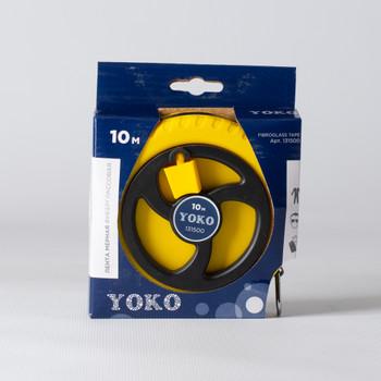 Лента мерная Yoko фиберглассовая, 10 м
