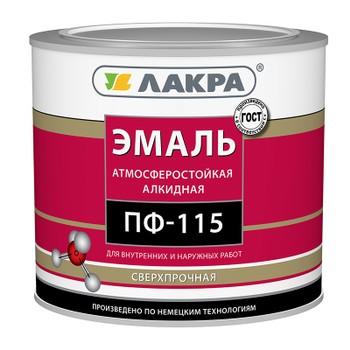 Эмаль ПФ-115 шоколадно-коричневая гл. (2,8кг)(Лакра)