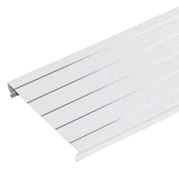 Комлект реечных потолков A100AS 1,35х0,9 м белый жемчуг с металлической полосой