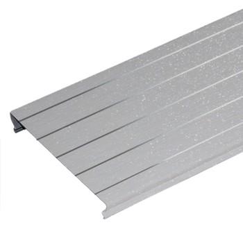 Комлект реечных потолков A100AS 1,7х1,7 м серебристый металлик с металлической полосой