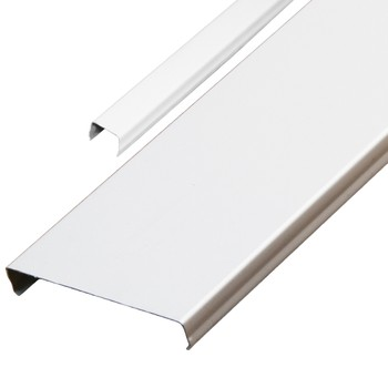 Комплект реечных потолков AN85A Эконом 1,7х1,7 м белый с раскладкой белый матовый