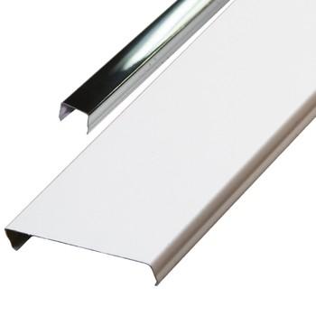 Комплект реечных потолков AN85A Экном 1,7х1,7 м белый с раскладкой супер-хром люкс