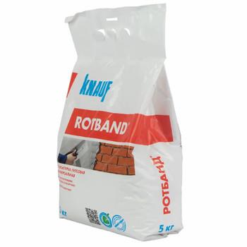 Штукатурка гипсовая универсальная Кнауф Ротбанд, 5 кг