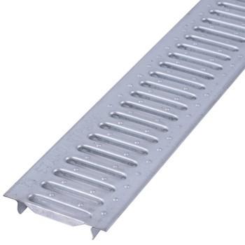 Решетка штамповонная оцинкованная на защелках NeoKom DN100 A15 1000х134х22 серый