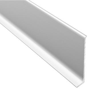 Плинтус алюминиевый Diele ПЛ60, 501л серебро люкс, 2500х58,5х11,2мм