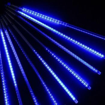"""Гирлянда светодиодная """"тающие сосульки""""(0,5 м), цвет: синий"""