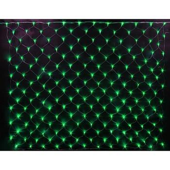 """Гирлянда светодиодная """"сетка"""", размер 2х4м.,цвет: зеленый"""
