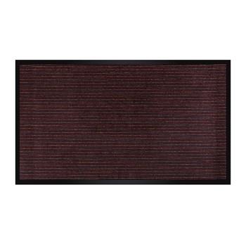 Коврик грязезащитный Linie 02, бордовый, 60х90 см