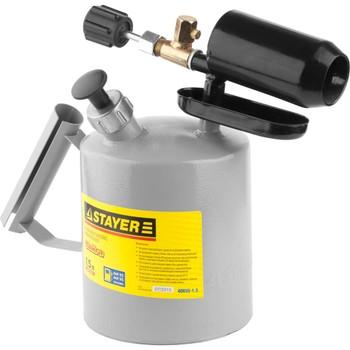 Лампа паяльная стальная Stayer Profi, 1,5 л