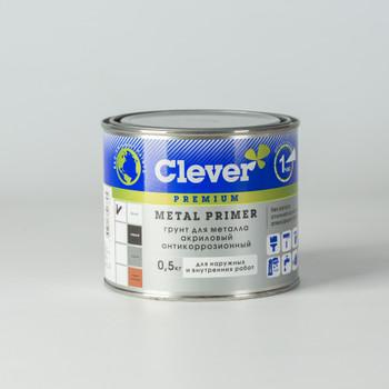 Грунт акриловый универсальный белый Clever, 0,5 кг