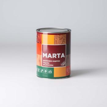 Декоративно-защитное средство для дерева MARTA, калужница, 0,75л