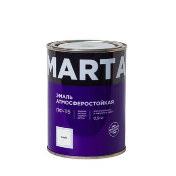 Эмаль ПФ-115 MARTA, белая гл., 0,9кг