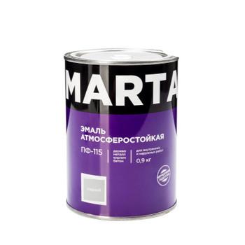 Эмаль ПФ-115 MARTA, серая, 0,9кг