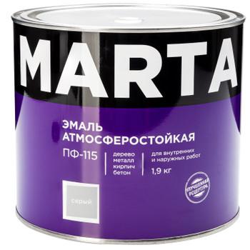 Эмаль ПФ-115 MARTA, серая, 1,9кг