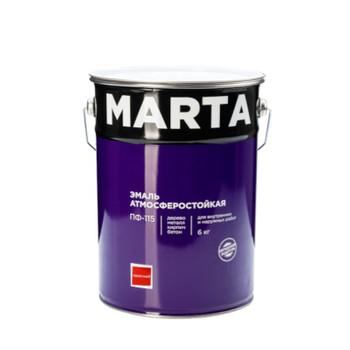 Эмаль MARTA ПФ-115 красная, 6кг