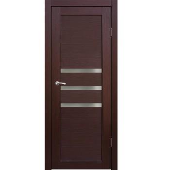 Полотно дверное остекленное Грация (стекло сатин бронза) СИНЕРЖИ ноче кремоне ПВХ, ПДО 600х2000мм