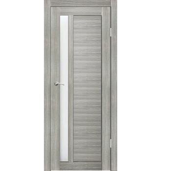 Полотно дверное остекленное Пиано (черное стекло Лакобель) СИНЕРЖИ ель ПВХ, ПДО 800х2000мм