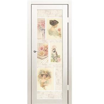 Полотно дверное остекленное Энерджи фотопечать №06 СИНЕРЖИ ясень белый ПВХ, ПДО 700х2000мм