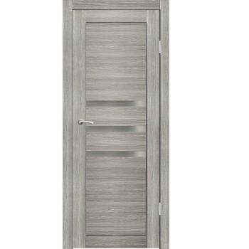 Полотно дверное остекленное Грация (стекло черное Лакобель) СИНЕРЖИ ель ПВХ, ПДО 700х2000мм