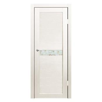 Полотно дверное остекленное Примо фотопечать №1 СИНЕРЖИ дуб молочный ПВХ, ПДО 600х2000мм