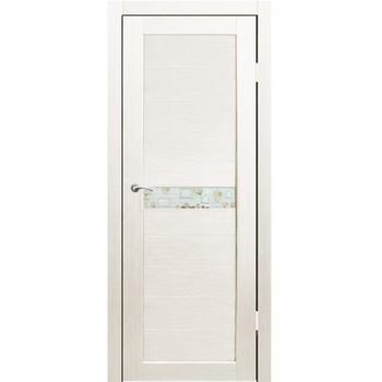 Полотно дверное остекленное Примо фотопечать №1 СИНЕРЖИ дуб молочный ПВХ, ПДО 700х2000мм