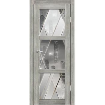 Полотно дверное остекленное Гарде фотопечать №03 СИНЕРЖИ ель ПВХ, ПДО 800х2000мм