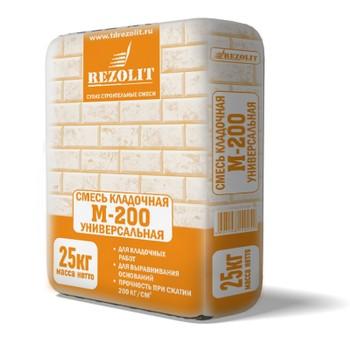 Кладочная смесь Rezolit М-200, 25 кг