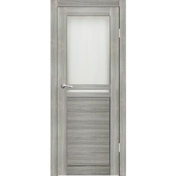 Полотно дверное остекленное Лацио СИНЕРЖИ грей ПВХ, ПДО 900х2000мм