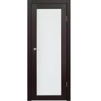 Полотно дверное остекленное Легро (без молдингов) СИНЕРЖИ венге ПВХ, ПДО 700х2000мм