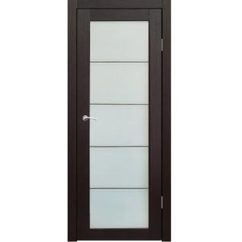 Полотно дверное остекленное Легро (без молдингов) СИНЕРЖИ венге ПВХ, ПДО 900х2000мм