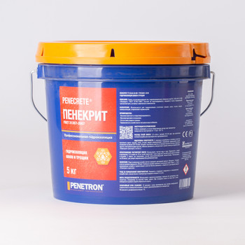 Гидроизоляция проникающая Пенекрит для стыков и трещин, 5кг.