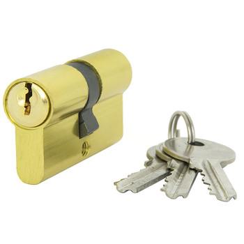 Цилиндровый механизм ФЗ AL 60 англ. ключ-ключ латунь