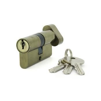Цилиндровый механизм ФЗ AL 60 англ. ключ-вертушка античная бронза