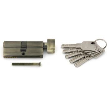 Цилиндровый механизм PALLADIUM AL 70 перф. ключ-вертушка античная бронза