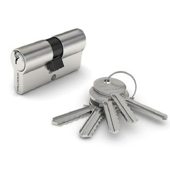 Цилиндровый механизм PALLADIUM 80 35х45 перф. ключ-ключ хром
