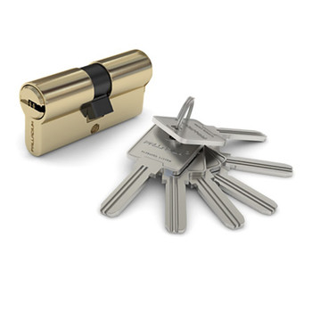 Цилиндровый механизм PALLADIUM 90 перф. ключ-ключ латунь