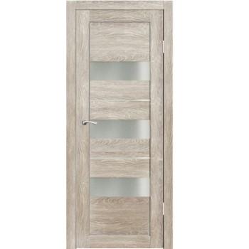 Полотно дверное остекленное Дельта (стекло сатин бронза) СИНЕРЖИ грей ПВХ, ПДО 700х2000мм