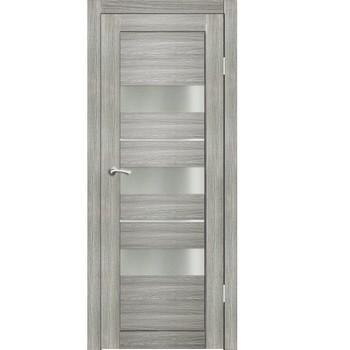 Полотно дверное остекленное Дельта (стекло сатин бронза) СИНЕРЖИ грей ПВХ, ПДО 800х2000мм