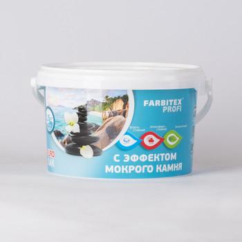 Лак акриловый с эффектом мокрого камня FARBITEX ПРОФИ, 2,5л