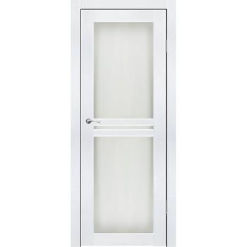 Полотно дверное остекленное Лацио 2 СИНЕРЖИ ясень белый ПВХ, ПДО 700х2000мм