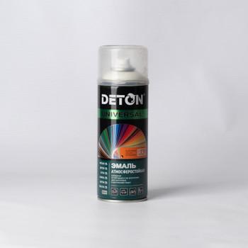 Эмаль аэрозольная DETON белая матовая, 0,52л