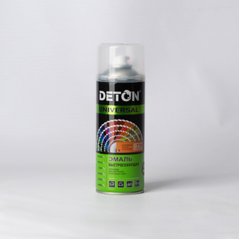 Эмаль аэрозольная DETON серая (7040), 0,52л