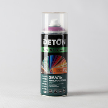 Эмаль аэрозольная DETON фиолетовая (RAL 4008), 0,52л