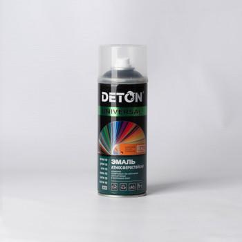 Эмаль аэрозольная DETON черная матовая (9005) 0,52л