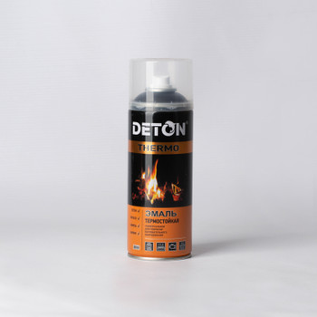 Эмаль аэрозольная DETON THERMO термостойкая (+ 650 °С) серебристая, 0,52 л
